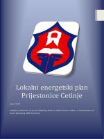 Lokalni energetski plan Prijestonice Cetinje 2014