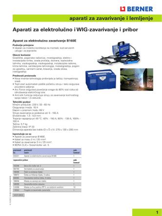 aparati za zavarivanje i lemljenje Aparati za elektrolučno i WIG