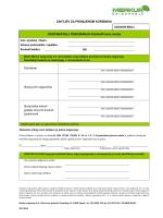 Zahtjev za promjenom korisnika osiguranja