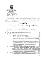 IZVJEŠĆE o stanju u prostoru Grada Slunja 2012.-2016.