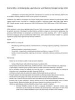 Korisnička i instalacijska uputstva za ventilatore Dospel serije KOM