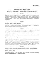 Nacrt Prijedloga Zakona o izmjenama i dopunama Zakona o
