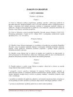ZAKON O GRADNJI - Legalizacija gradnje