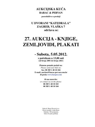 27. aukcija -knjige, zemljovidi, plakati