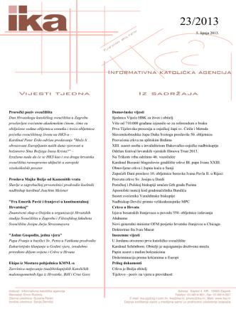 5. lipnja 2013. Proročki poziv sveučilišta Dan Hrvatskoga