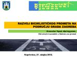 razvoj biciklističkog prometa na području grada
