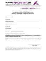 Suglasnost za maloljetne putnike na putovanju sa Svikoncerti.eu