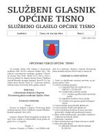 Službeni glasnik Općine Tisno / 2014 / Broj 2