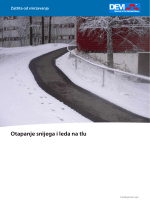 Otapanje snijega i leda na tlu