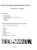 Uputstvo za povezivanje DVBC prijemnika