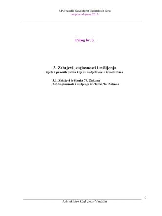 3. Zahtjevi, suglasnosti i mišljenja