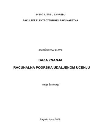 Baza Znanja - tekst završnog rada