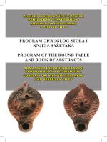program okruglog stola i knjiga sažetaka program of the round table