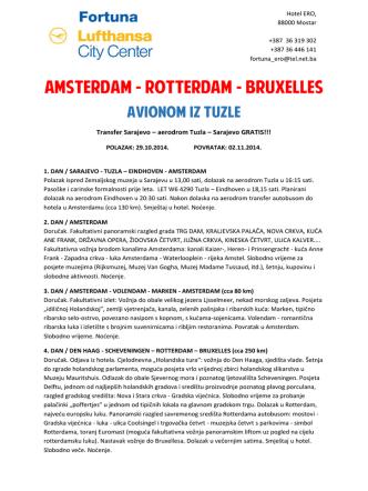 AMSTERDAM - ROTTERDAM - BRUXELLES