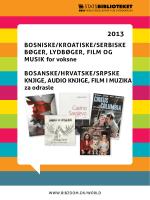 bosniske/kroaTiske/serbiske bøger, lydbøger, film