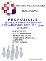 Propozicije 2. HKLS - Kuglački savez Varaždinske Županije