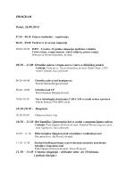 PROGRAM Petak, 26.09.2014. 09.20 – 11.00 Ortotika udova i trupa