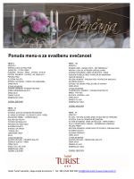 menu za vjenčanja