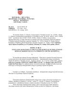 Odluka o davanju koncesije za dimnjačarske