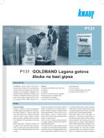 P131 GOLDBAND Lagana gotova žbuka na bazi gipsa P131