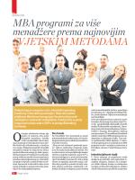 MBA program - Ciceron komunikacije