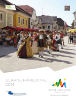 GLAVNE PRIREDITVE 2014