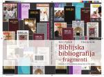 Biblijska bibliografija - fragmenti - Katolički bogoslovni fakultet u