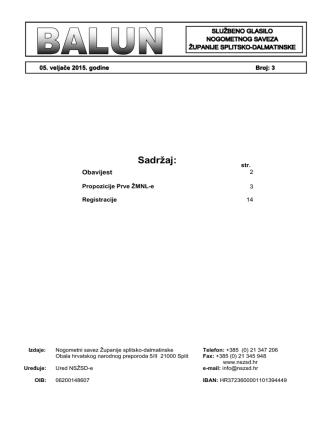 Balun br. 3.pdf - Nogometni savez Županije splitsko