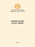 GODIŠNJE IZVJEŠĆE ZA 2013. GODINU