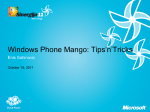 Windows Phone Mango: Tips`n`Tricks