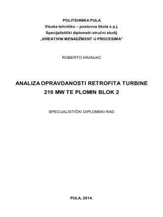analiza opravdanosti retrofita turbine 210 mw te