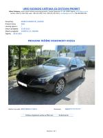 Primjer izrade tržišne procjene vrijednosti vozila BMW