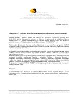 Priopcenje za medije - Sporazum HAMAG