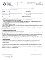 Zahtjev za korištenje usluge