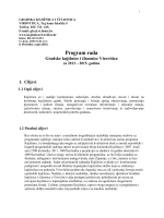 Program rada Gradske knjižnice i čitaonice Virovitica za 2013.