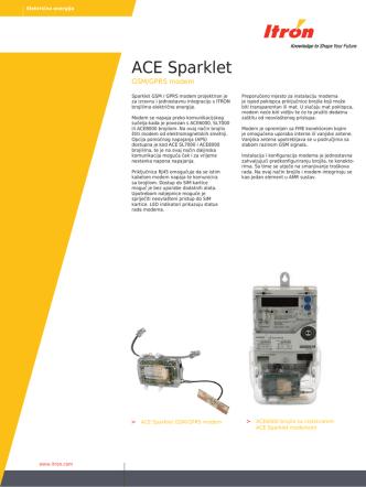 ACE Sparklet modem - PET