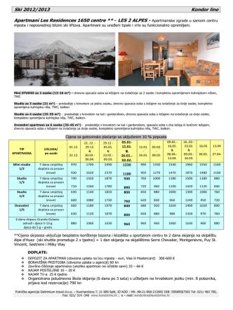 Cijene i ostale informacije - katalog