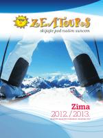 Zeatours katalog skijanja 2013