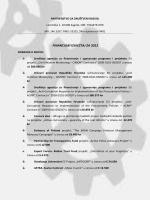 Financijski izvještaj za 2012. godinu