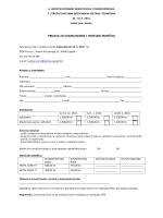 prijava za sudjelovanje i hotelski smještaj