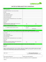 Zahtjev za predujam po polici osiguranja