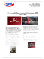 Izvještaj sa sajma EIRE 2012 Milano