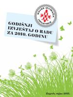 godišnji izvještaj o radu za 2010. godinu