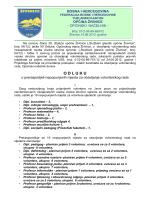 Odluka o preraspodjeli vol. mjesta VSS 2012