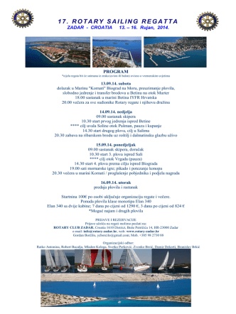17 Rotary regata Program 2014