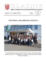 Glasnik Hrvatskog filatelističkog saveza br. 11/13