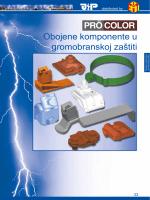 Obojene komponente u gromobranskoj zaštiti PRÖ COLOR