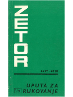 Upute za Zetor 4712-4718