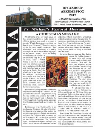 Dec - St. Nicholas Greek Orthodox Church