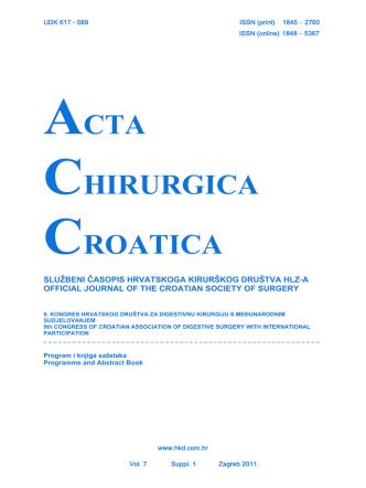 9. kongres Hrvatskog društva za digestivnu kirurgiju